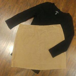 EUC Old Navy Tan Corduroy Fitted Mini Skirt Wm 2